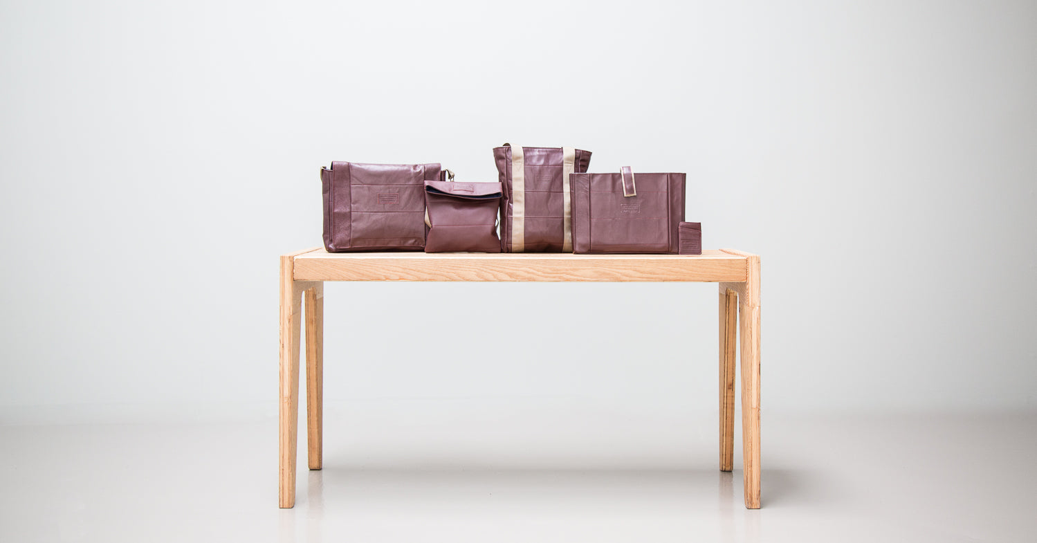 bags upcycled from horizon airlines leather seat covers
