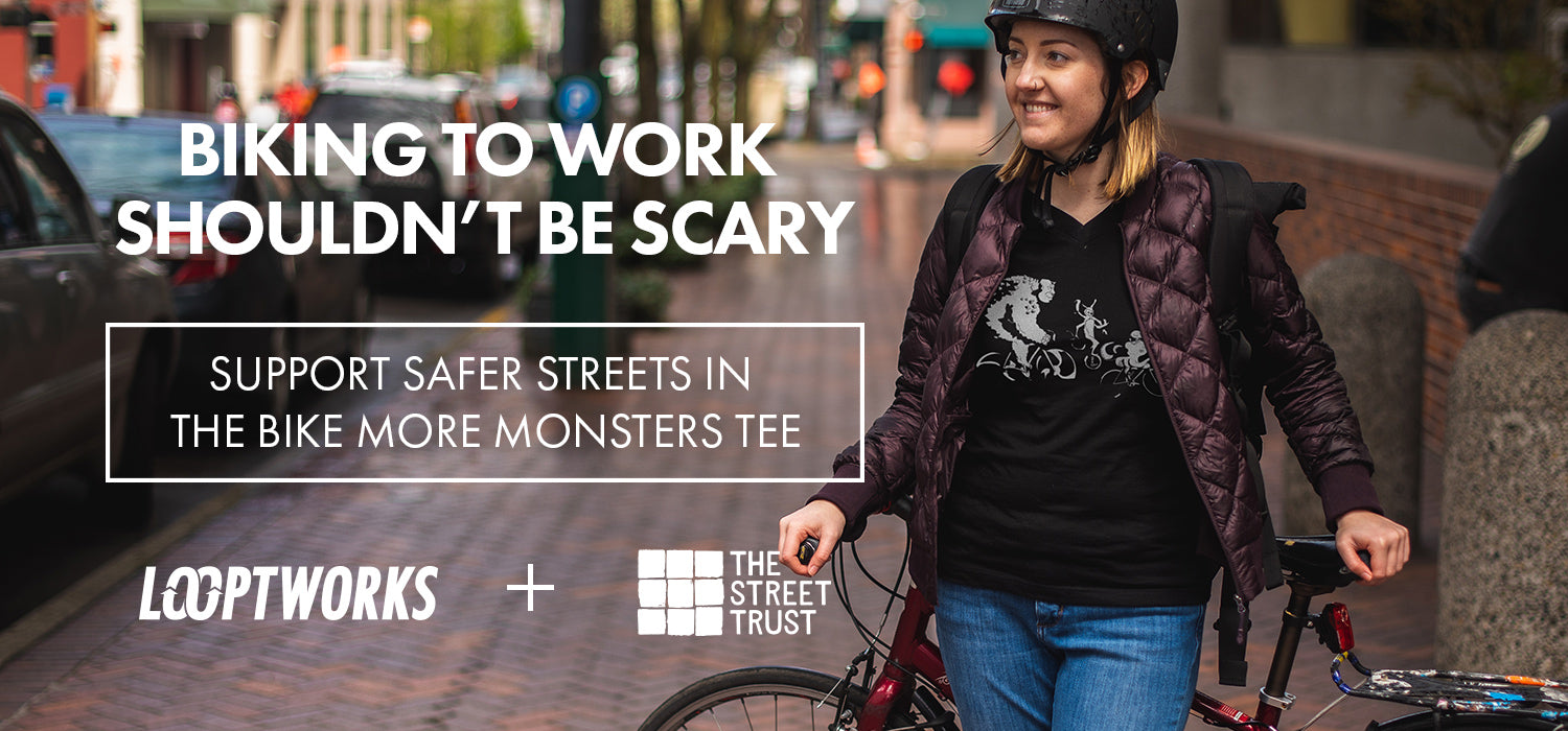 Support safer streets in the Bike More Monster tee