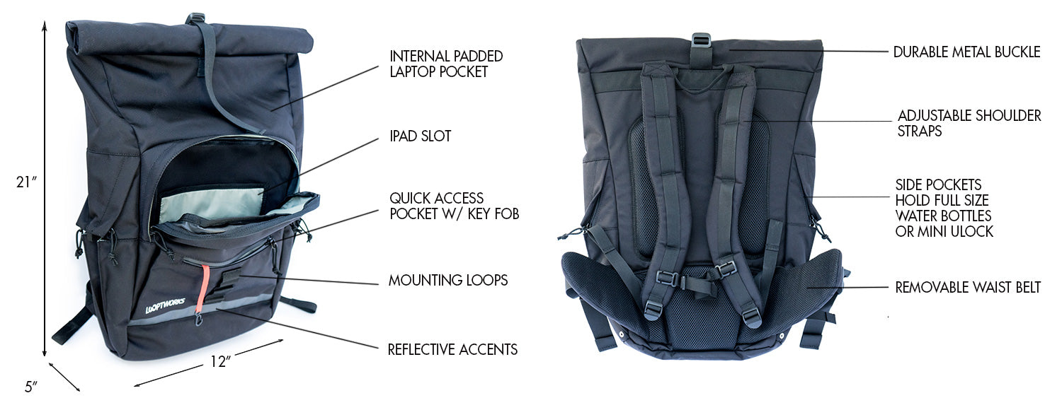 springwater rolltop backpack features
