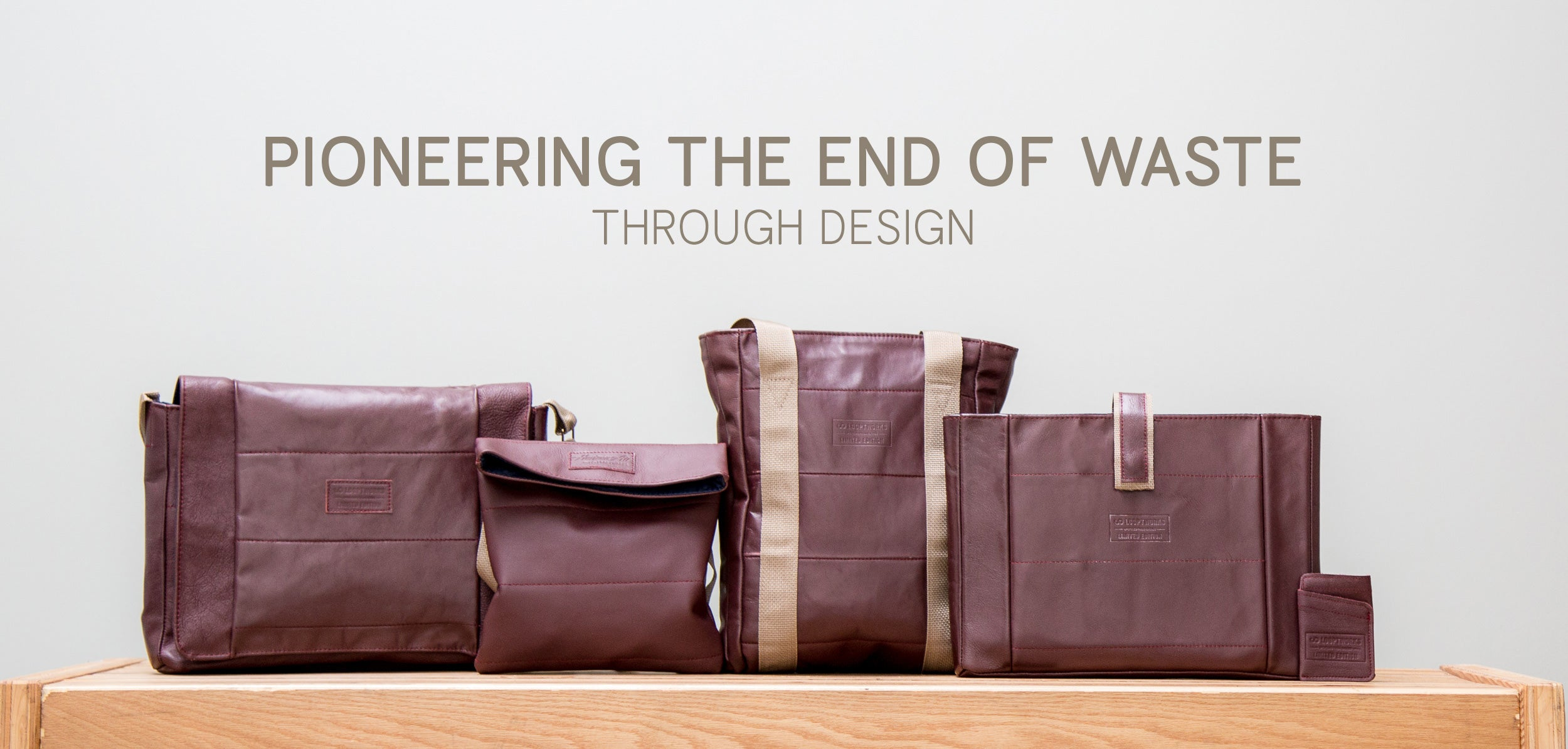 ending waste through design upcycled bags
