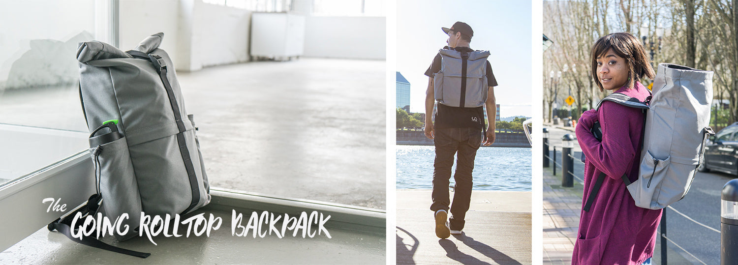 sustainable eco friendly rolltop backpack made in the us