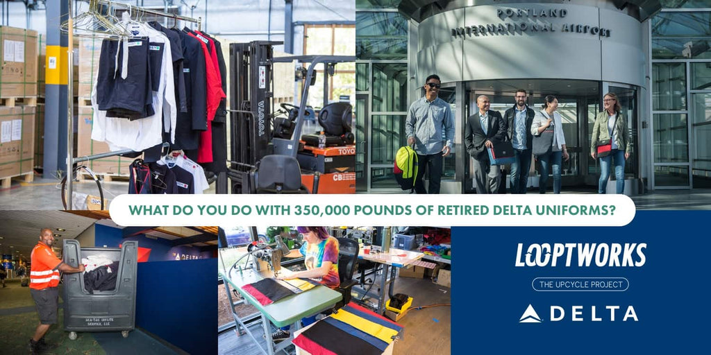 what do you do with 350,000 lbs of retired uniforms