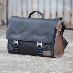 Northwest Messenger bag with leather panels from Looptworks