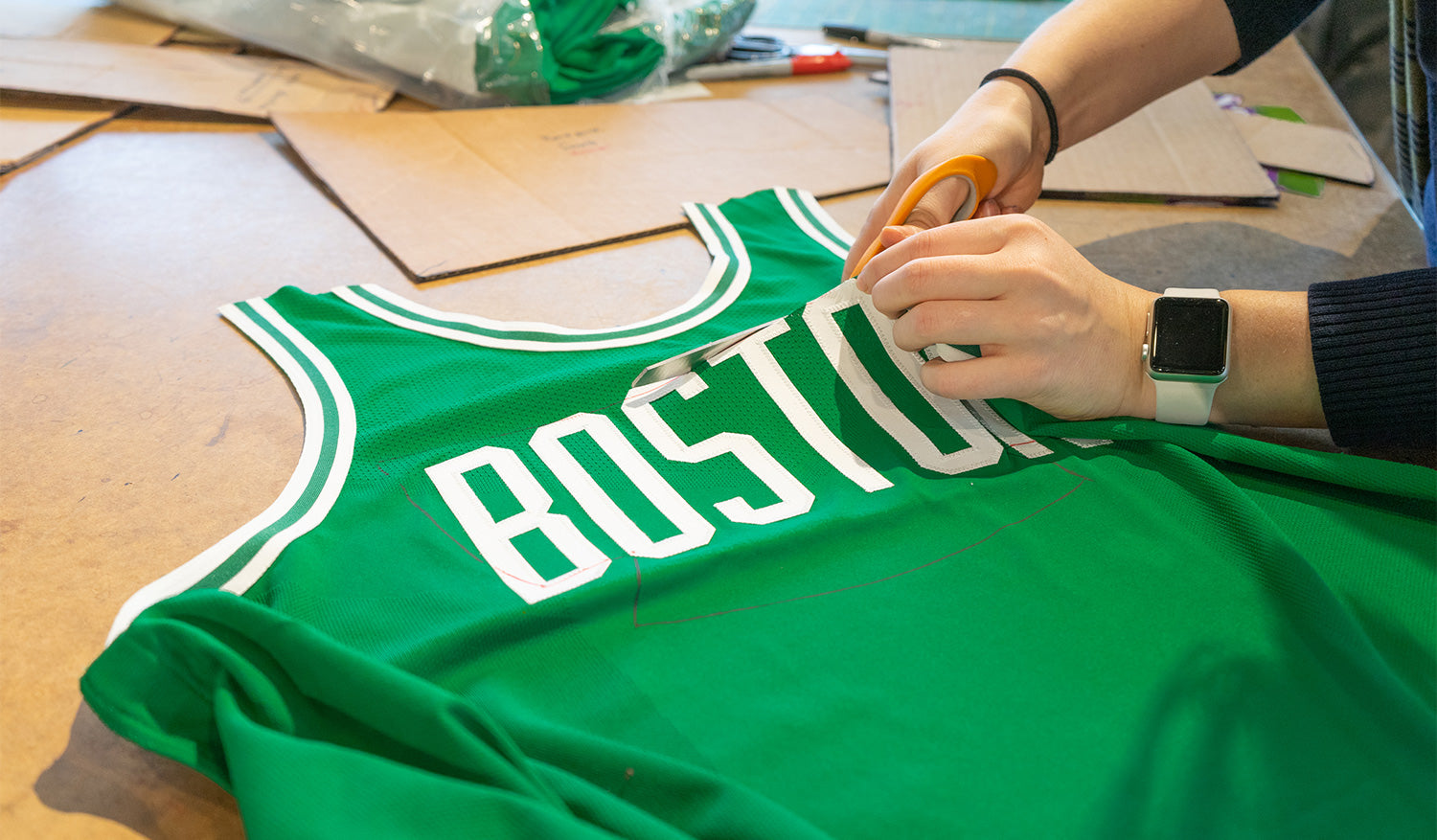 upcycling a celtics jersey