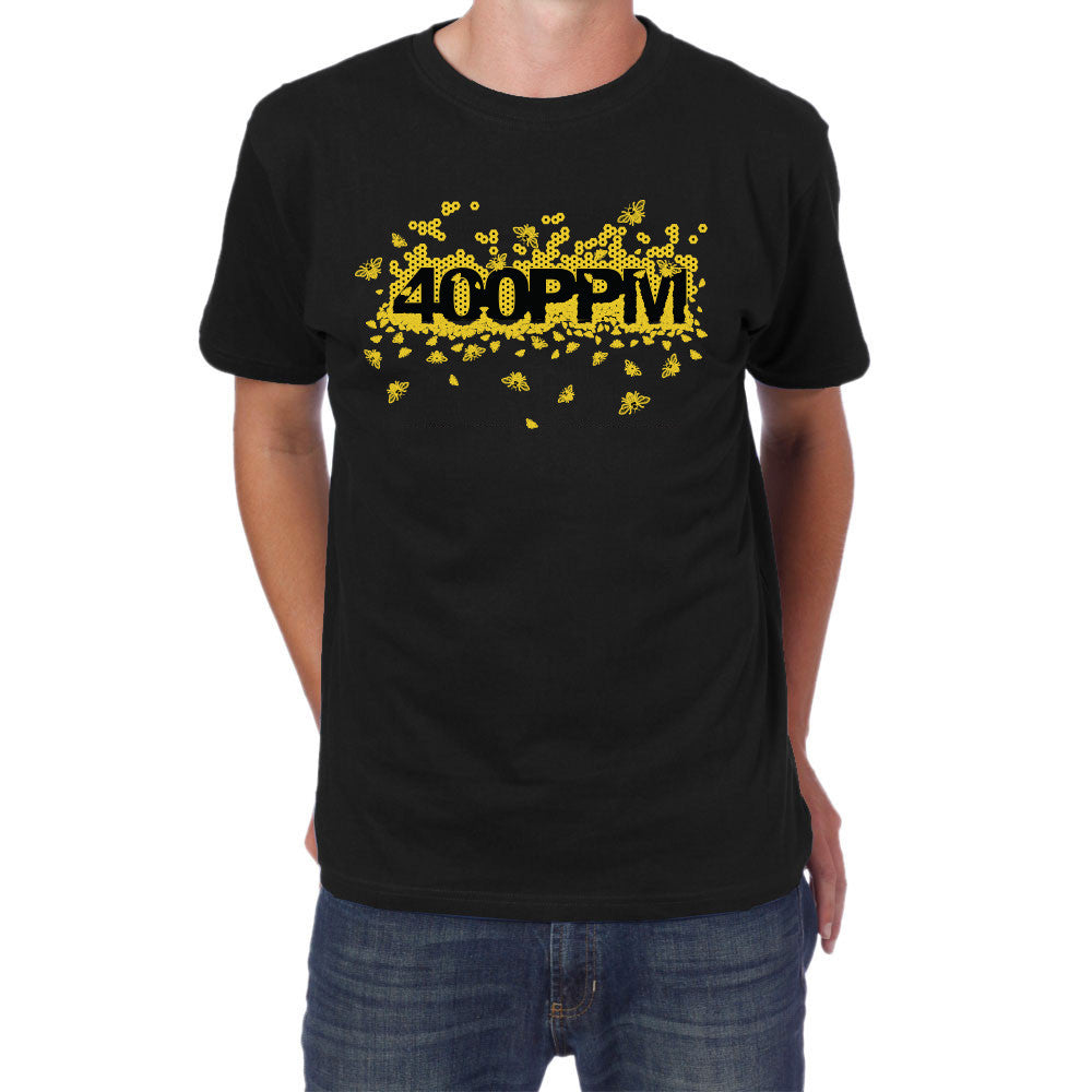 Men's 400 PPM Bee Tee - Black Apparel - Looptworks
