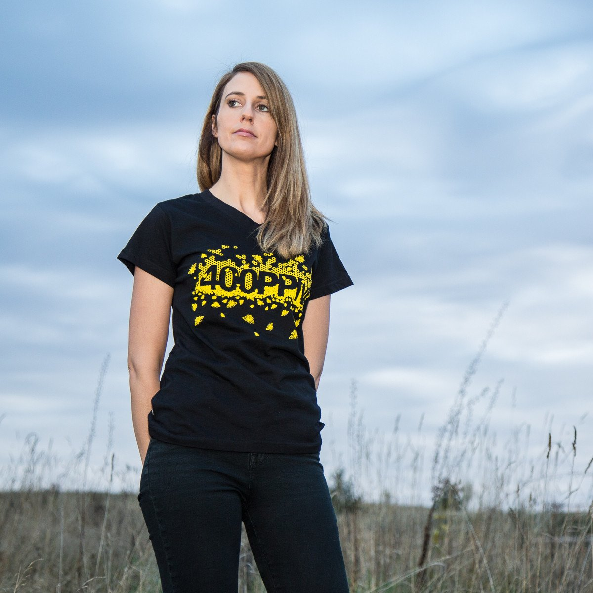 Women's 400 PPM Bee Tee - Black Apparel - Looptworks