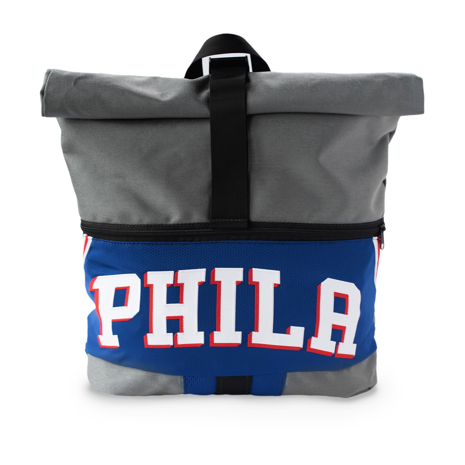 Philadelphia 76ers Upcycled Jersey Rolltop Backpack Backpacks - Looptworks
