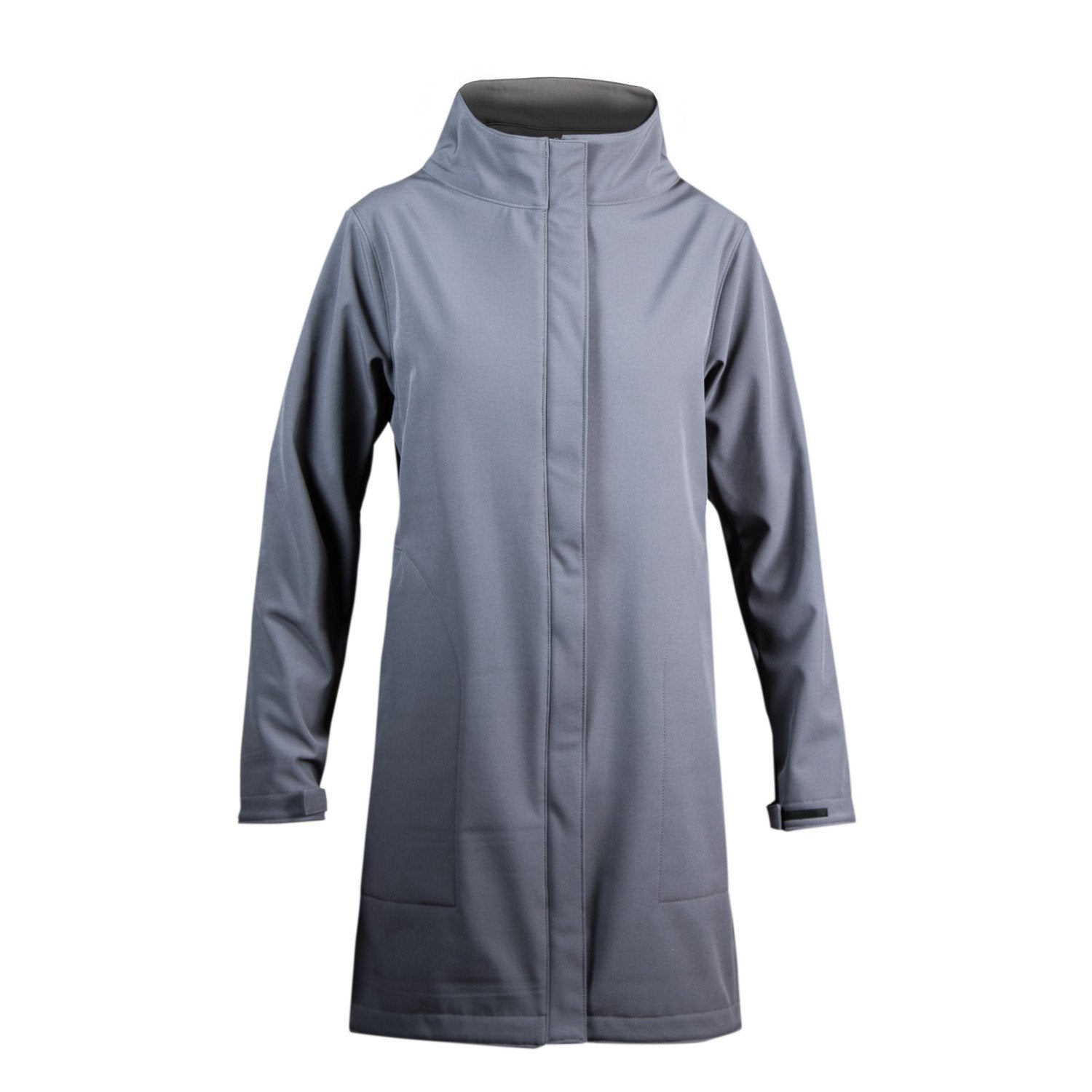 Women's Gray Upcycled Softshell Duster Jacket Apparel - Looptworks