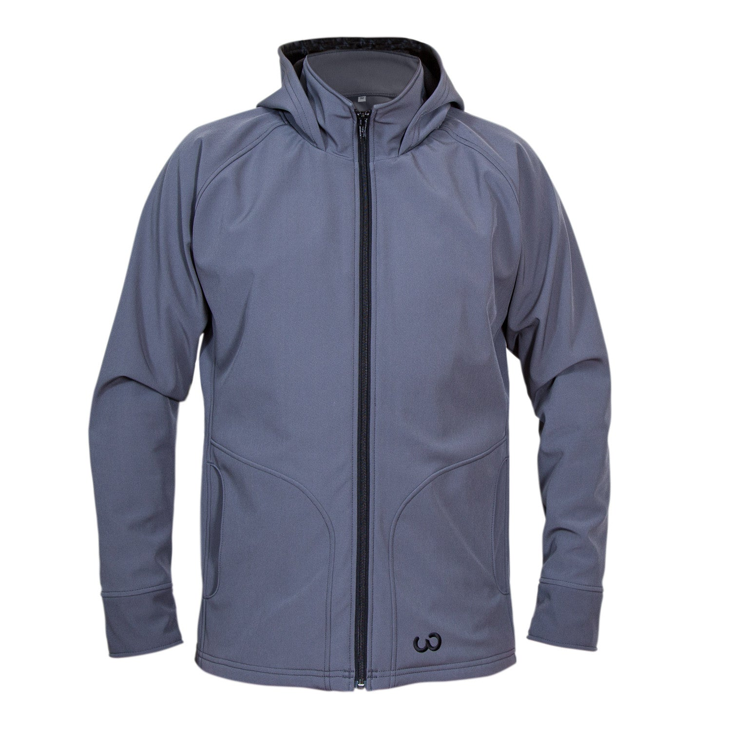 Grey Upcycled Softshell Jacket Apparel - Looptworks