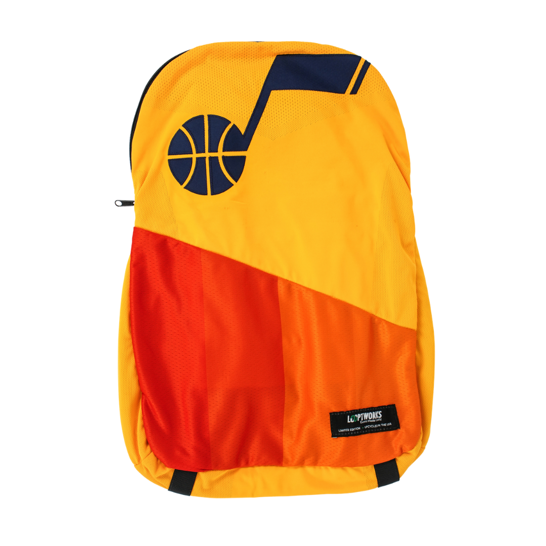Utah Jazz Upcycled Jersey Packable Backpack (Re-Loopt)