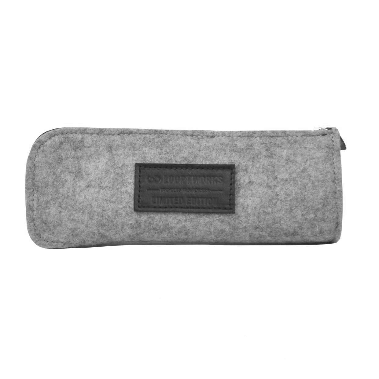 Felt & Leather Pencil Case - Brown Accessories - Looptworks
