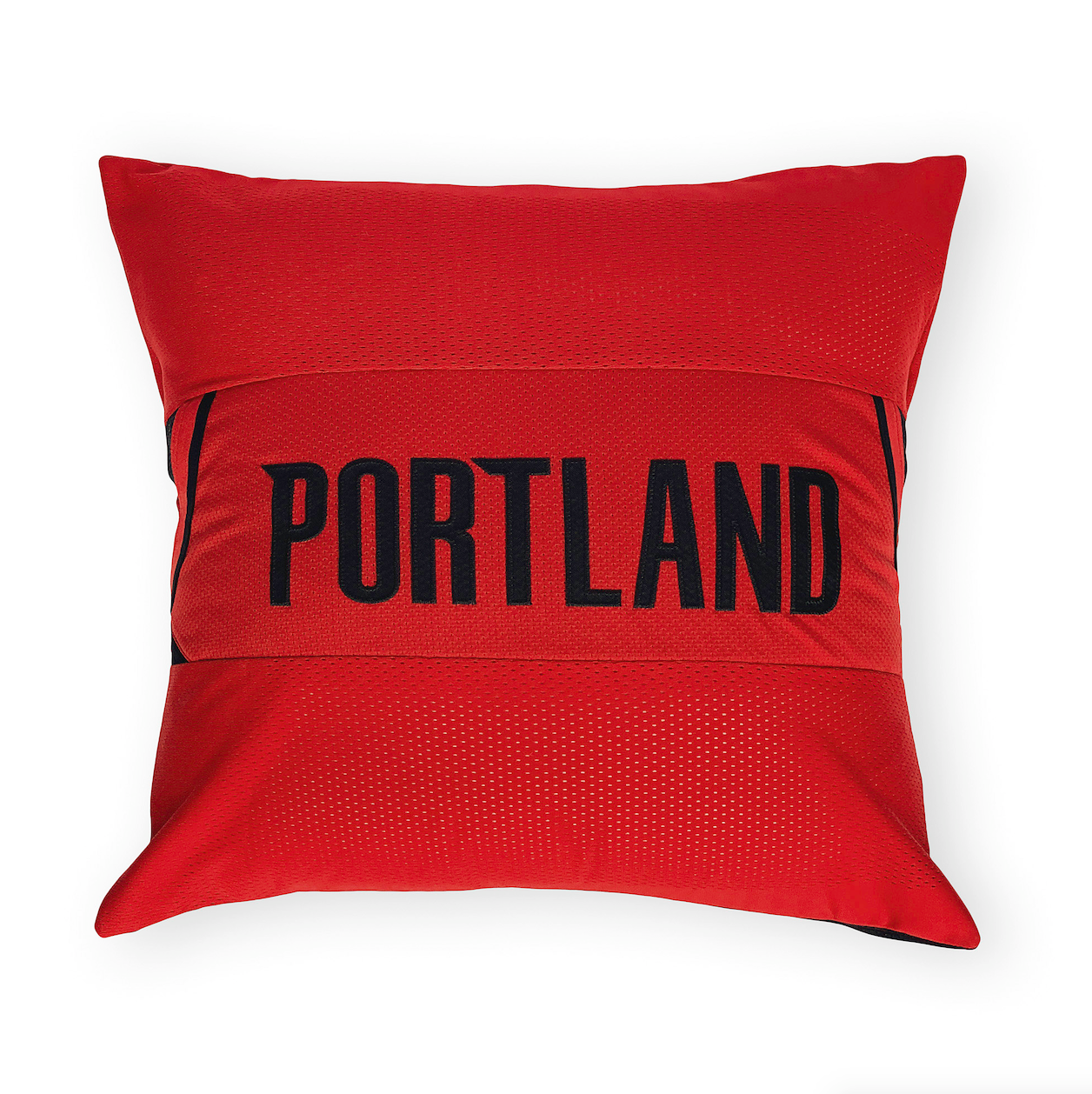 differently 24ece e76de Portland Trail Blazers Upcycled Jersey Pillow