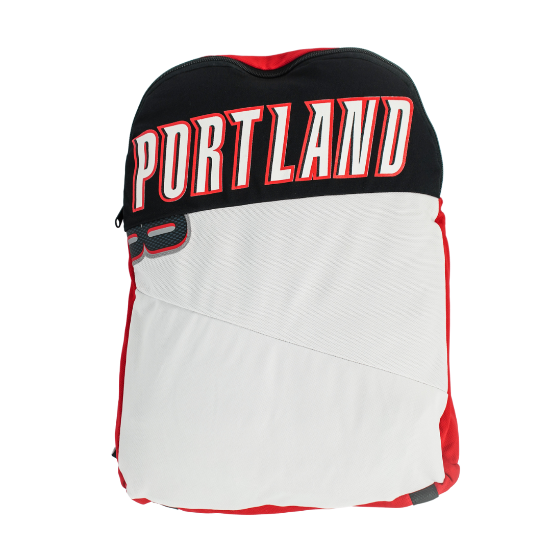 Portland Trailblazers Upcycled Jersey Packable Backpack (Re-Loopt)