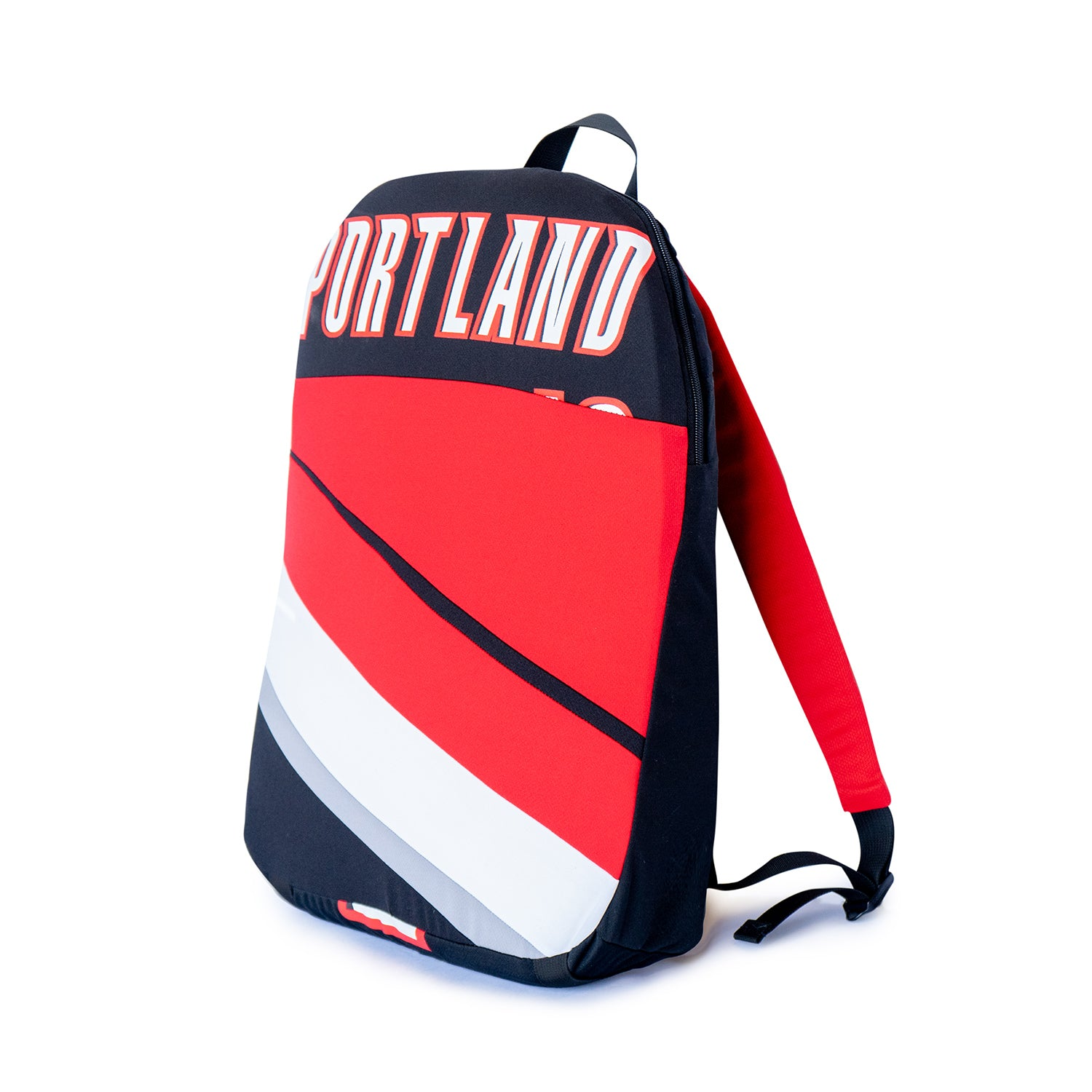 newest 70217 eeeb6 Portland Trail Blazers Upcycled Jersey Packable Backpack