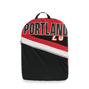 newest 12f5b 8d009 Portland Trail Blazers Upcycled Jersey Packable Backpack