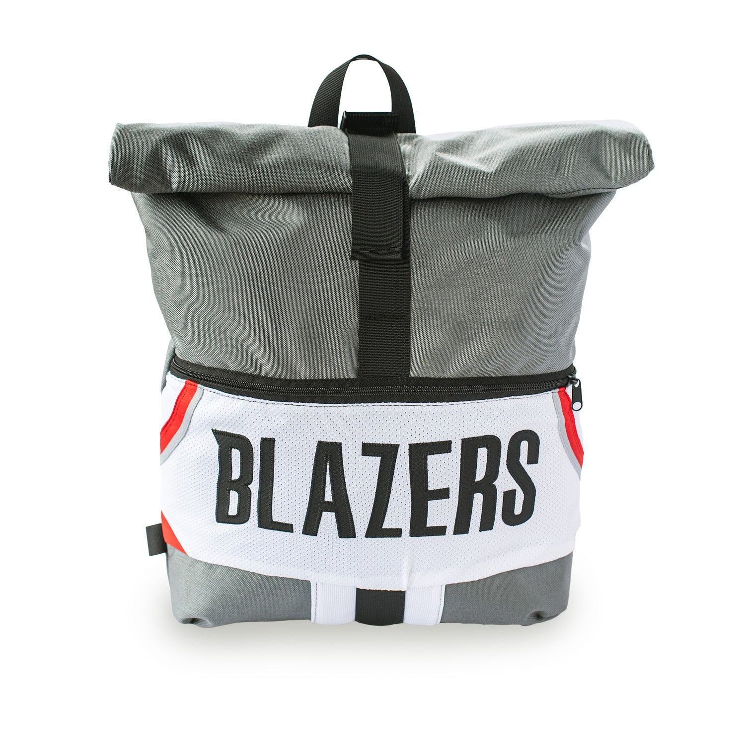Portland Trail Blazers Upcycled Jersey Rolltop Backpack Backpacks - Looptworks