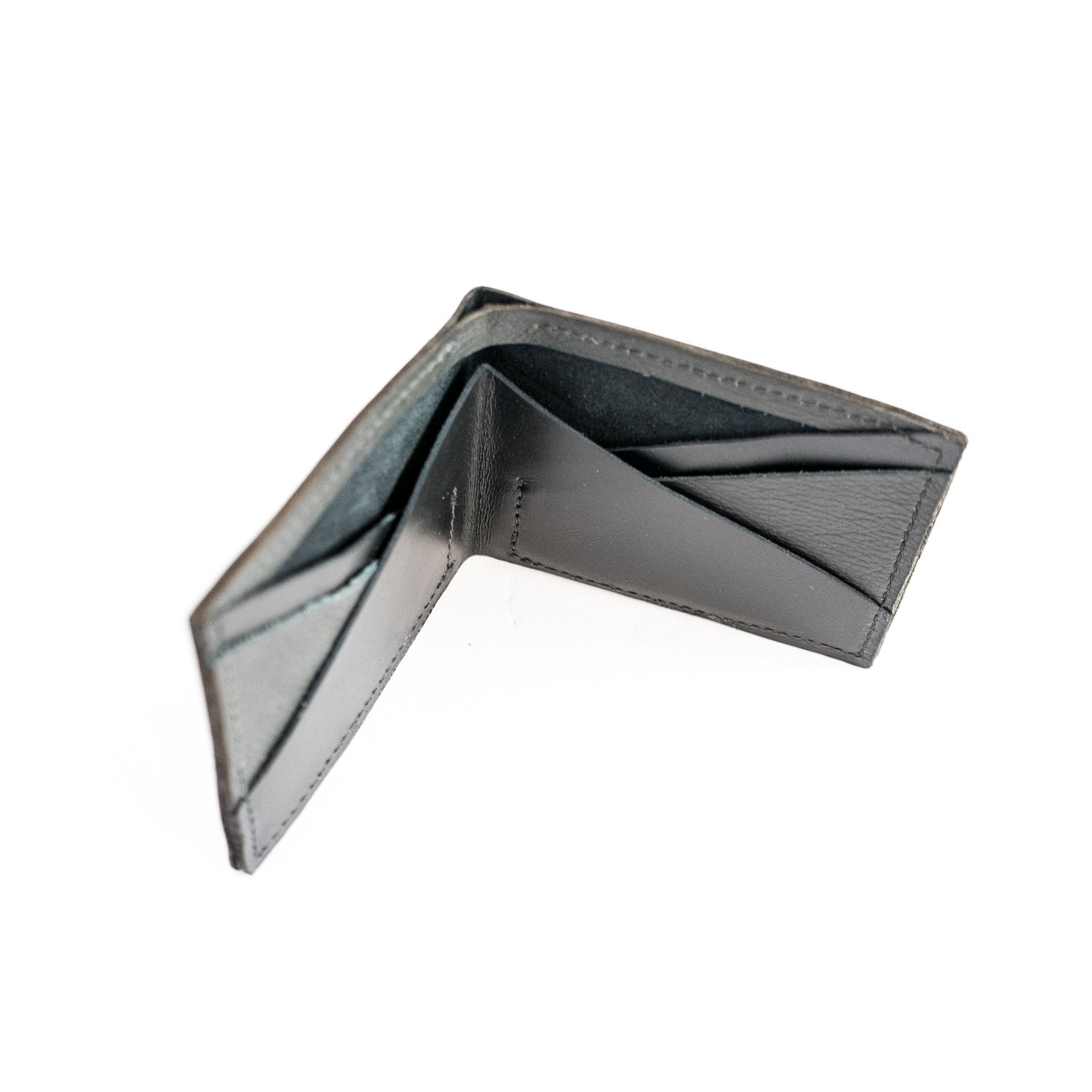 The Hill Black Leather Bifold Accessories - Looptworks