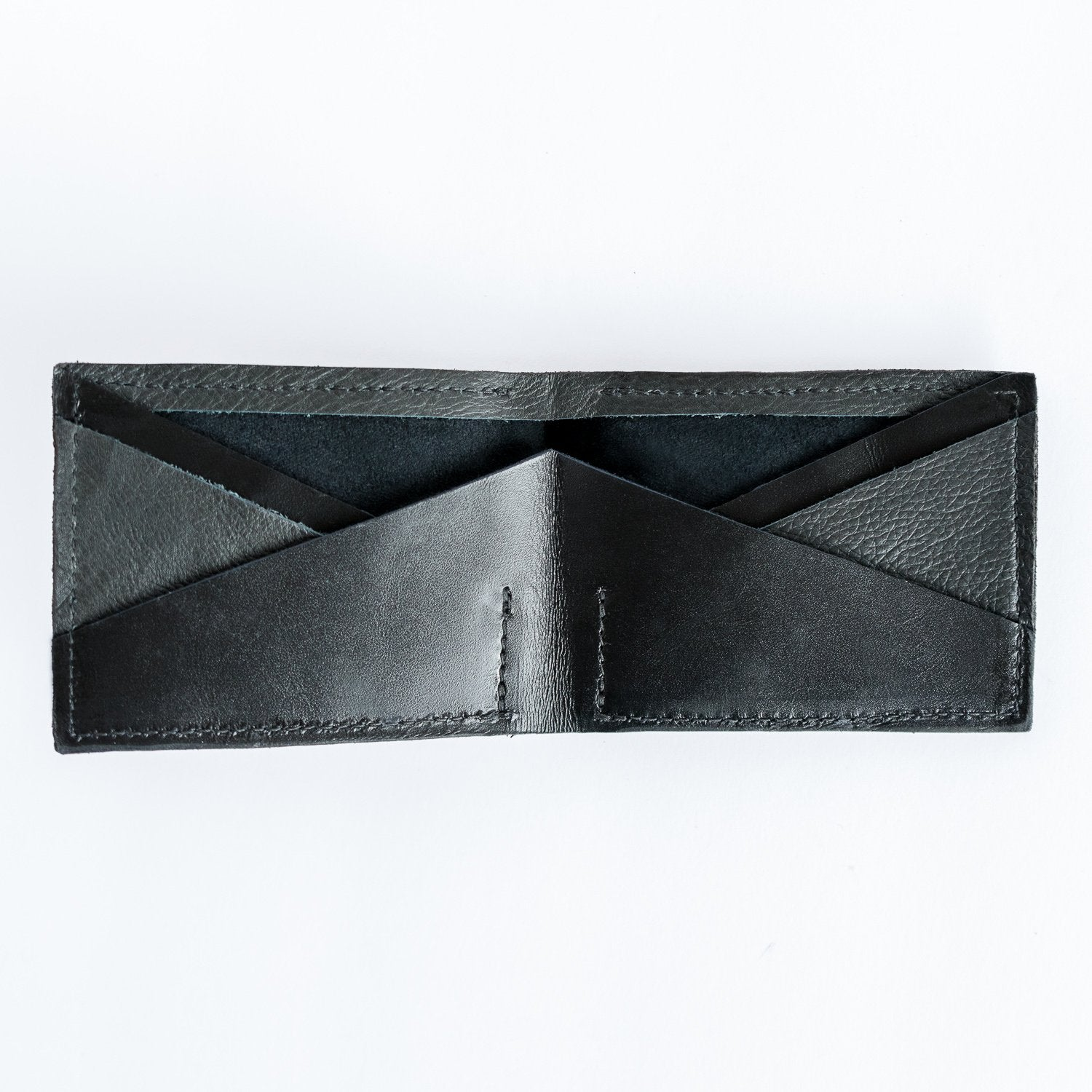 The Hill Black Leather Bifold