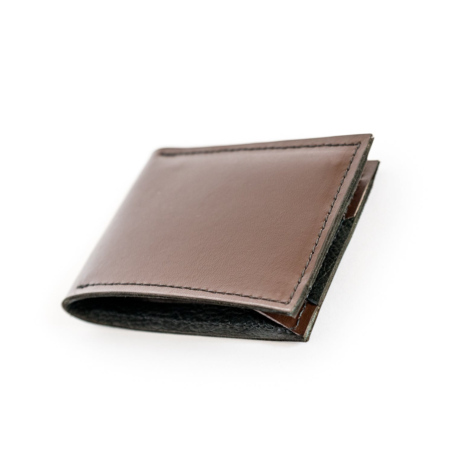 The Hill Brown Leather Bifold Accessories - Looptworks