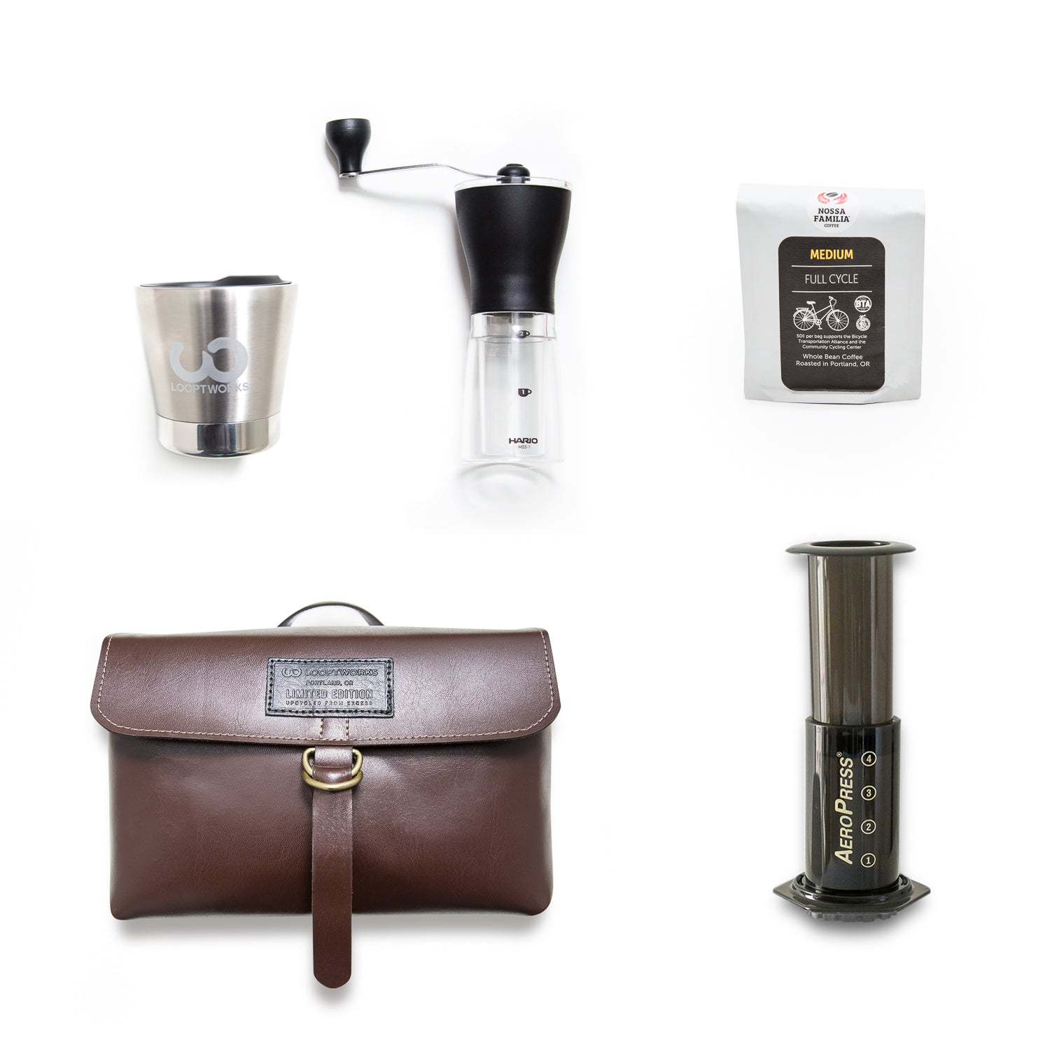 Upcycle Coffee Travel Kit Accessories - Looptworks