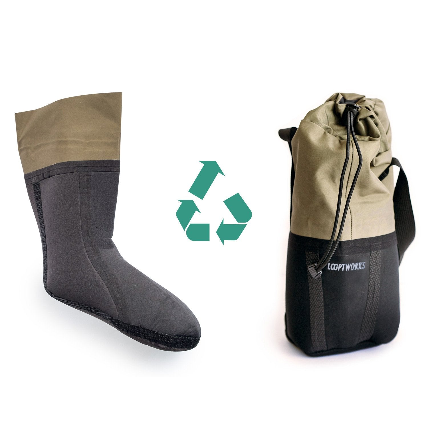 Patagonia fishing waders are given new life, upcycled into insulated growler carriers
