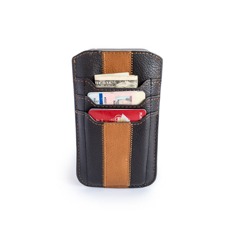Hainan Upcycled Leather iPhone Wallet Sleeve - fits iPhone 8, 7, 6