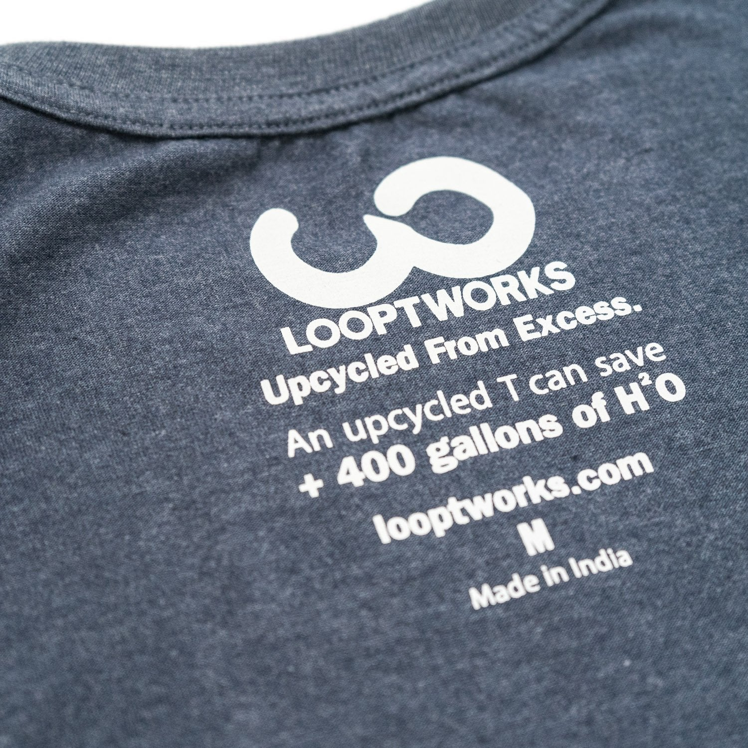 Heather Blue Men's Upcycled Tee 2 Pack Apparel - Looptworks
