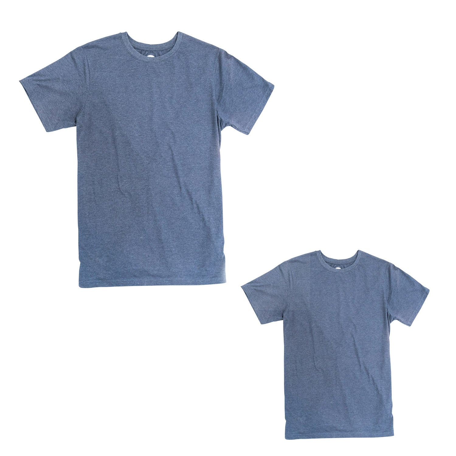 Heather Blue Men's Upcycled Tee 2 Pack