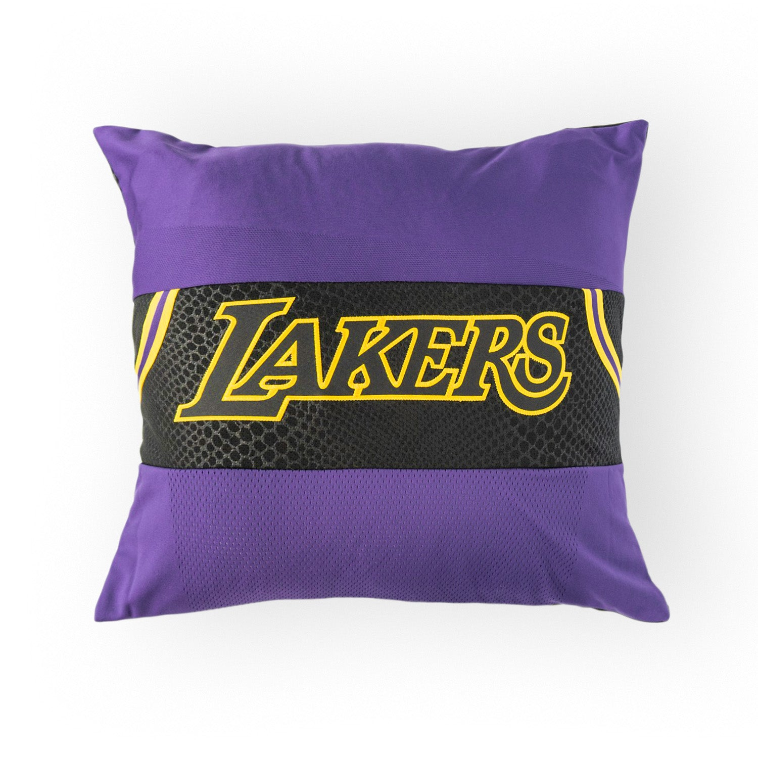 Los Angeles Lakers Upcycled Jersey Pillow Accessories - Looptworks