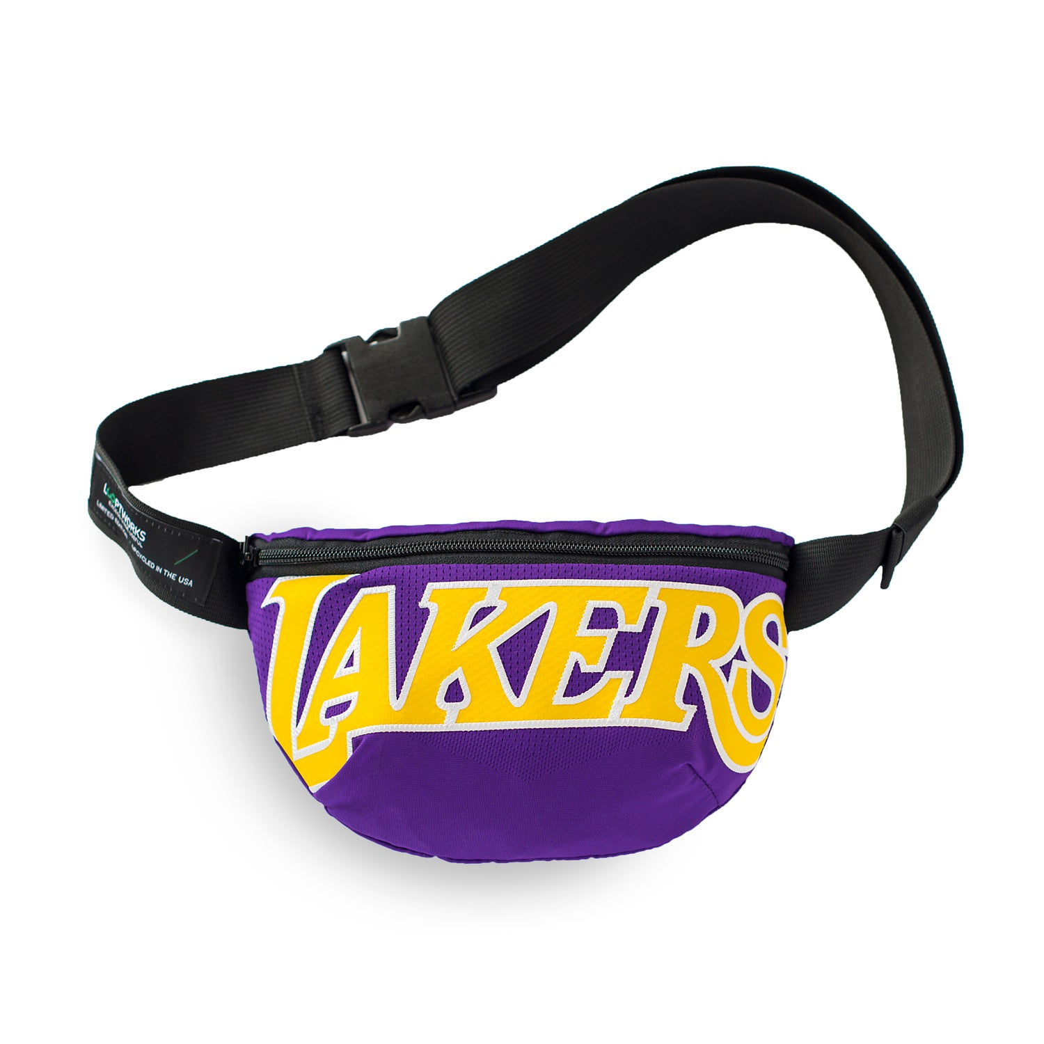 Los Angeles Lakers Upcycled Jersey Hip Pack Accessories - Looptworks