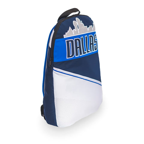 Dallas Mavericks packable backpack made using upcycled NBA jerseys