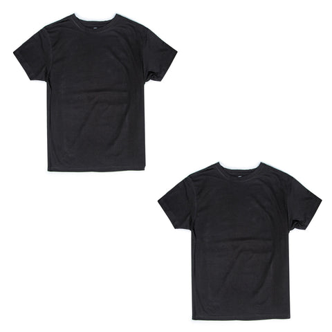 Men's Upcycled Tee 2 Pack (Black & Black)