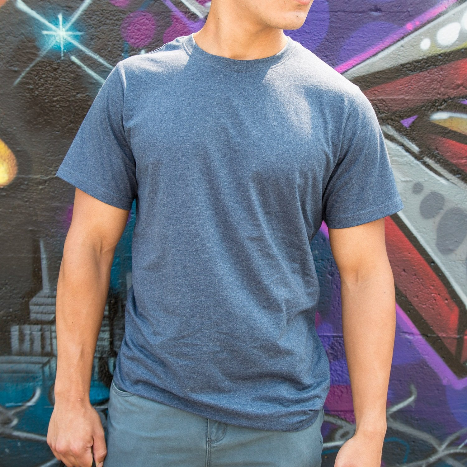 Men's Heather Blue Upcycled Tee
