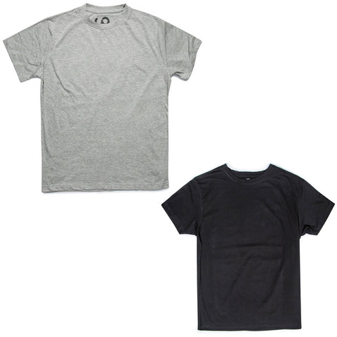 Men's Upcycled Tee 2 Pack (Black & Gray)