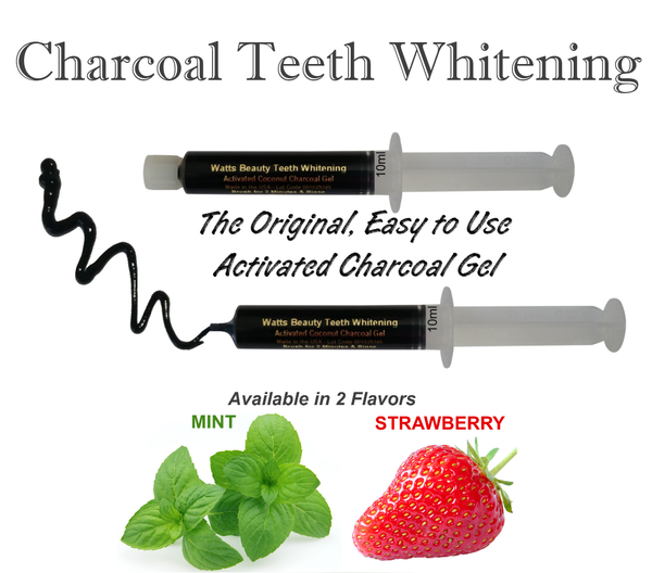 Watts Beauty Charcoal Teeth Whitening Powder Gel