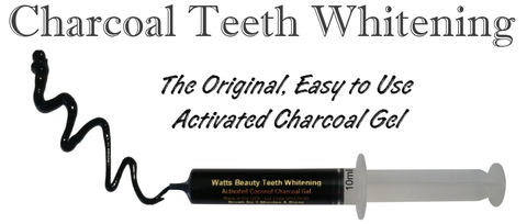 Watts Beauty Activated Coconut Charcoal Gel - Best All Natural Teeth Whitening Charcoal Gel - No Mess