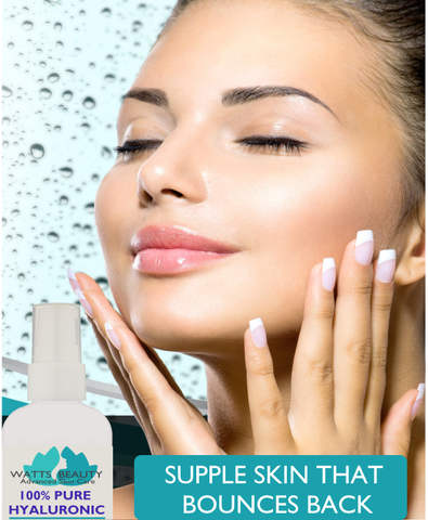 Watts Beauty 100% Pure Hyaluronic Acid for Wrinkles, Fine Lines, Dry Skin & More