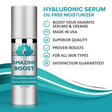 Watts Beauty Best Face Moisturizer is an Oil Free Boosting Hyaluronic Serum
