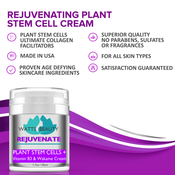 Watts Beauty Rejuvenate Plant Stem Cell Cream - Youthful Rebound