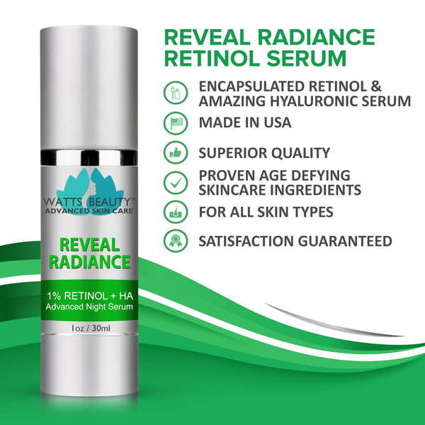 Watts Beauty Reveal Radiance Retinol Serum