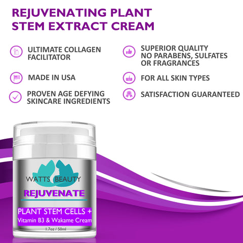 Watts Beauty Rejuvenate Plant Extracts Cream - Youthful Rebound