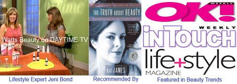 Watts Beauty On Daytime TV Show for Best Summer Skin Care Picks & Featured Top Beauty Pick in Many Lifestyle & Beauty Magazines
