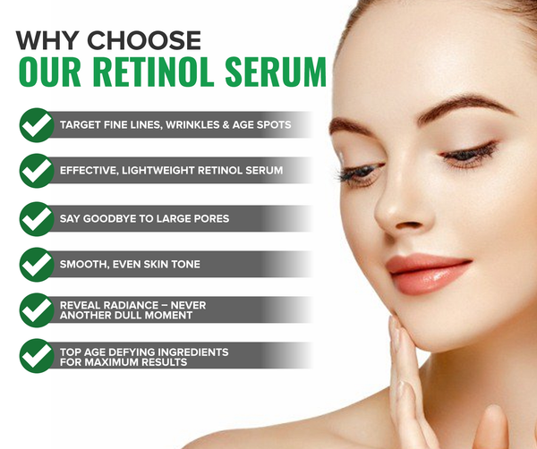 Watts Beauty Reveal Radiance Retinol Serum for Wrinkles, Fine Lines, Large Pores , Uneven Skin Tone and More