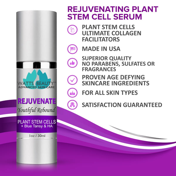 Watts Beauty Rejuvenate Plant Stem Cell Serum - Youthful Rebound