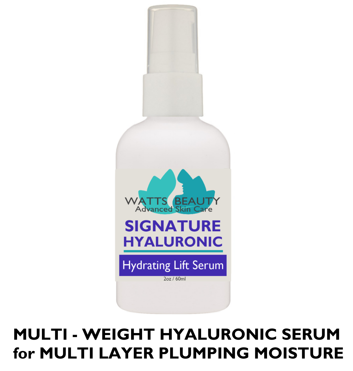 Multi Weight 1.5% Pure Hyaluronic Acid Serum Plumps Fine Lines and Wrinkles for Supple Skin that Bounces Back