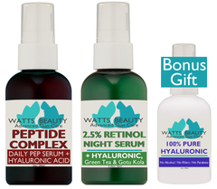 Peptide Firming Wrinkle Serum - Boost Collagen with PRO Peptide Complex Serum - WattsBeautyUSA.com