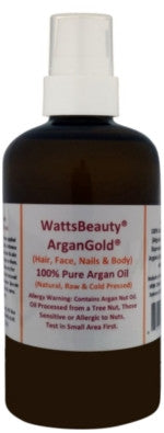 ArganGold: 100% Raw, Cold Pressed Moroccan Argan Oil for Skin, Hair, Face, Nails, Rough Heels & More