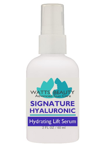 Watts Beauty Signature 100% Pure Hyaluronic Acid Serum for Face - Multi Weight Hydrating Lift Serum