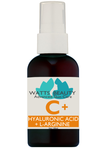 Watts Beauty Hyaluronic Acid Serum with Vitamin C + L - Arginine . Best Vitamin C Serum for Brighter, Clear  Complexion - WattsBeautyUSA.com