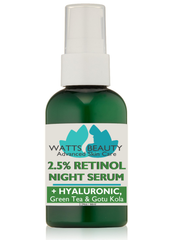 Clear, Smooth Skin -  2.5% Retinol Serum with Hyaluronic Acid, Green Tea & Gotu Kola - Lightweight 2.5% Retinol Serum - WattsBeautyUSA.com